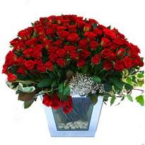 Karaman 14 şubat sevgililer günü çiçek   101 adet kirmizi gül aranjmani