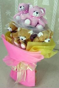 8 adet ayiciktan buket  Karaman çiçek servisi , çiçekçi adresleri