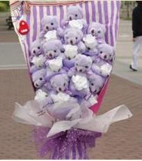 11 adet pelus ayicik buketi  Karaman hediye çiçek yolla