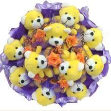 11 adet pelus ayicik buketi  Karaman çiçek gönderme sitemiz güvenlidir