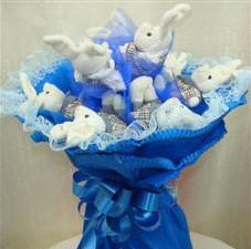 7 adet pelus ayicik buketi  Karaman internetten çiçek siparişi
