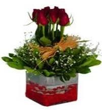 Karaman çiçek siparişi sitesi  7 adet mika yada cam vazoda gül tanzimi