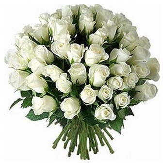 Karaman İnternetten çiçek siparişi  33 adet beyaz gül buketi