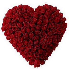 Karaman cicek , cicekci  muhteşem kırmızı güllerden kalp çiçeği