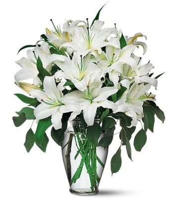 Karaman uluslararası çiçek gönderme  4 dal kazablanka ile görsel vazo tanzimi