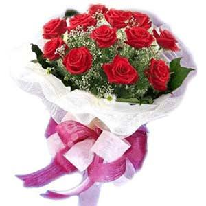 Karaman çiçekçiler  11 adet kırmızı güllerden buket modeli