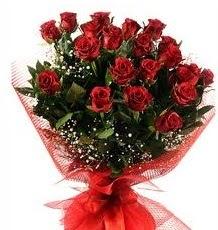 İlginç Hediye 21 Adet kırmızı gül  Karaman anneler günü çiçek yolla