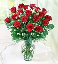 Karaman uluslararası çiçek gönderme  9 adet mika yada vazoda kirmizi güller