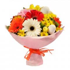 Karışık mevsim buketi Mevsimsel çiçek  Karaman anneler günü çiçek yolla