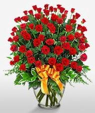 Görsel vazo içerisinde 101 adet gül  Karaman çiçek servisi , çiçekçi adresleri