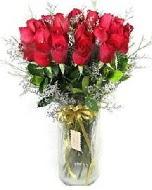27 adet vazo içerisinde kırmızı gül  Karaman ucuz çiçek gönder