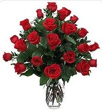 Karaman cicekciler , cicek siparisi  24 adet kırmızı gülden vazo tanzimi