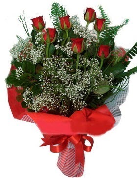 7 kırmızı gül buketi  Karaman İnternetten çiçek siparişi