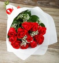 9 kırmızı gülden buket çiçeği  Karaman çiçek siparişi sitesi