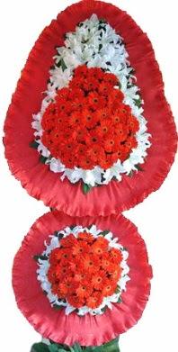Karaman çiçek online çiçek siparişi  Çift katlı kaliteli düğün açılış sepeti