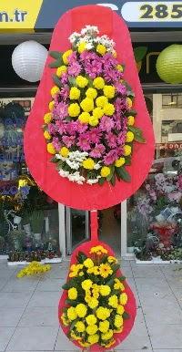 Çift katlı düğün nikah açılış çiçek modeli  Karaman çiçek online çiçek siparişi