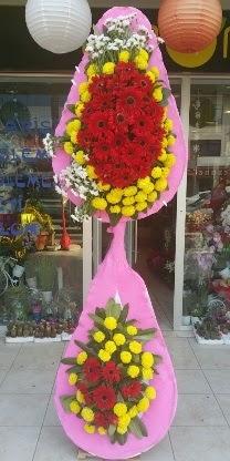 Çift katlı düğün nikah açılış çiçek modeli  Karaman 14 şubat sevgililer günü çiçek
