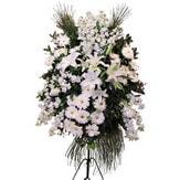 Karaman çiçek servisi , çiçekçi adresleri  Ferforje beyaz renkli kazablanka