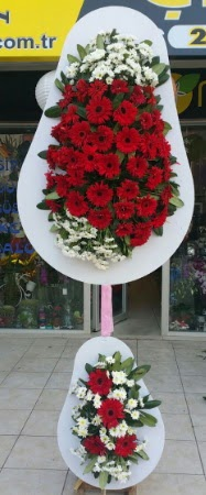 Çift katlı düğün nikah işyeri açılış çiçeği  Karaman ucuz çiçek gönder