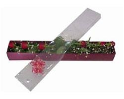 Karaman yurtiçi ve yurtdışı çiçek siparişi   6 adet kirmizi gül kutu içinde