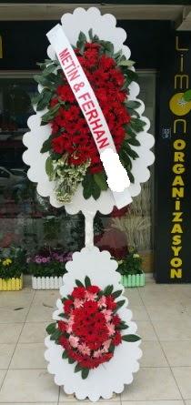 Çift katlı düğün nikah çiçeği modeli  Karaman cicekciler , cicek siparisi