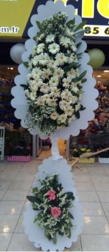 Çift katlı düğün nikah açılış çiçeği  Karaman internetten çiçek satışı