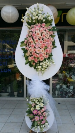 Çift katlı özel şahane sepet çiçeği  Karaman internetten çiçek satışı
