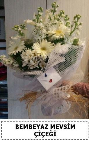 Bembeyaz görsel mevsim çiçek buketi  Karaman çiçekçi mağazası