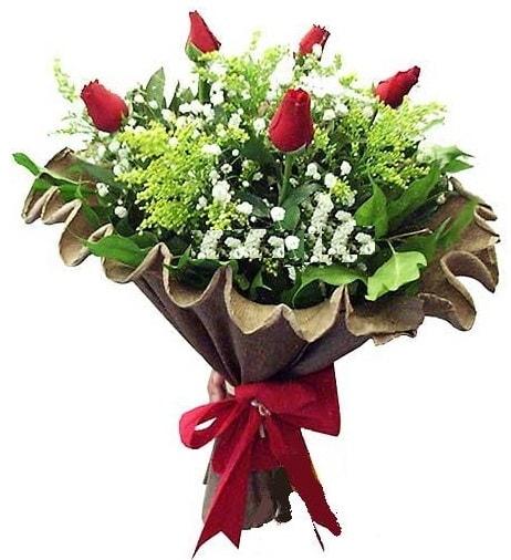 5 adet gülden buket  Karaman hediye çiçek yolla