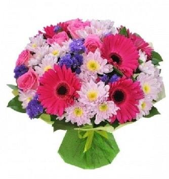 Karışık mevsim buketi mevsimsel buket  Karaman çiçekçiler