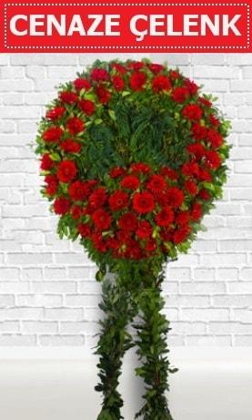 Kırmızı Çelenk Cenaze çiçeği  Karaman ucuz çiçek gönder