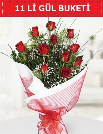 11 adet kırmızı gül buketi Aşk budur  Karaman hediye çiçek yolla