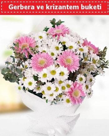 Papatya ve Gerbera Buketi  Karaman internetten çiçek siparişi