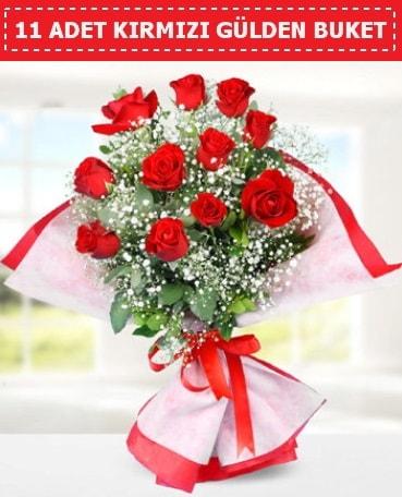 11 Adet Kırmızı Gül Buketi  Karaman anneler günü çiçek yolla