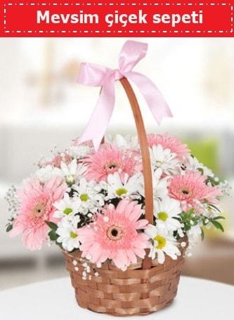 Mevsim kır çiçek sepeti  Karaman internetten çiçek siparişi