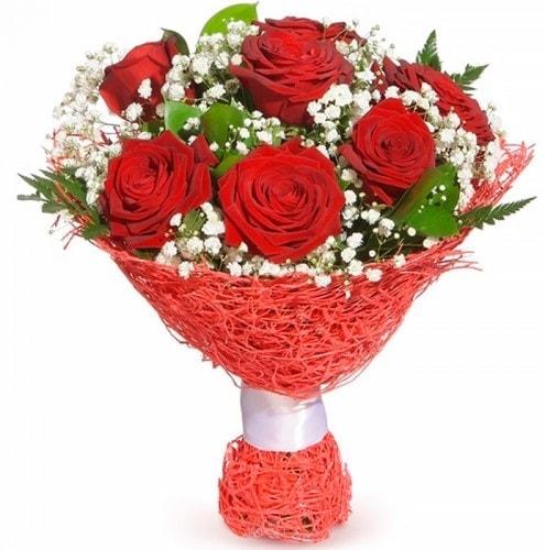 7 adet kırmızı gül buketi  Karaman 14 şubat sevgililer günü çiçek